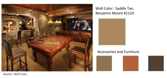Perfect Wall Color For A Man Cave Saddle Tan By Benjamin