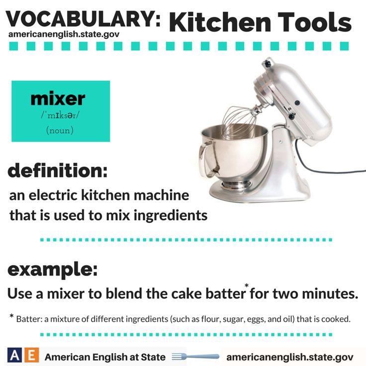 Vocabulary: Kitchen Tools - mixer