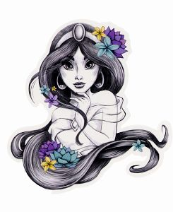 This is a Jasmine tattoo I'd totally get. I love that it actually has some Jasmine flowers on it.