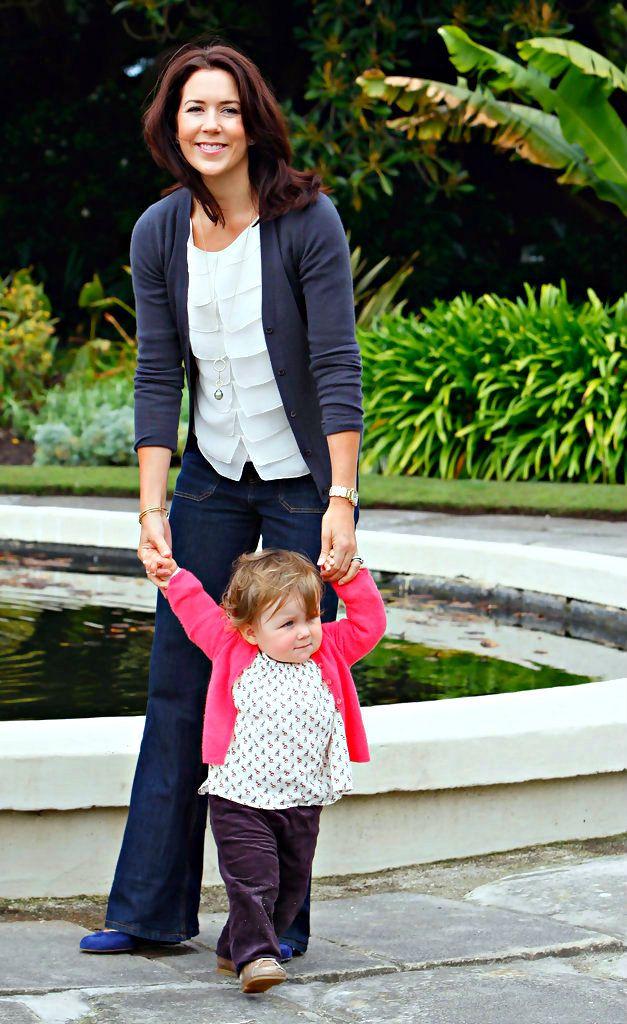 danishroyalfamily:  Crown Princess Mary with Princess Isabella