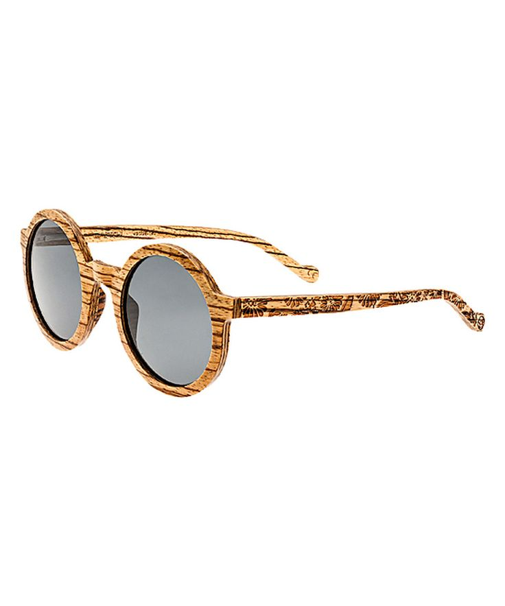This Zebrawood Canary Wood Sunglasses by EARTH wood watches is perfect! #zulilyfinds
