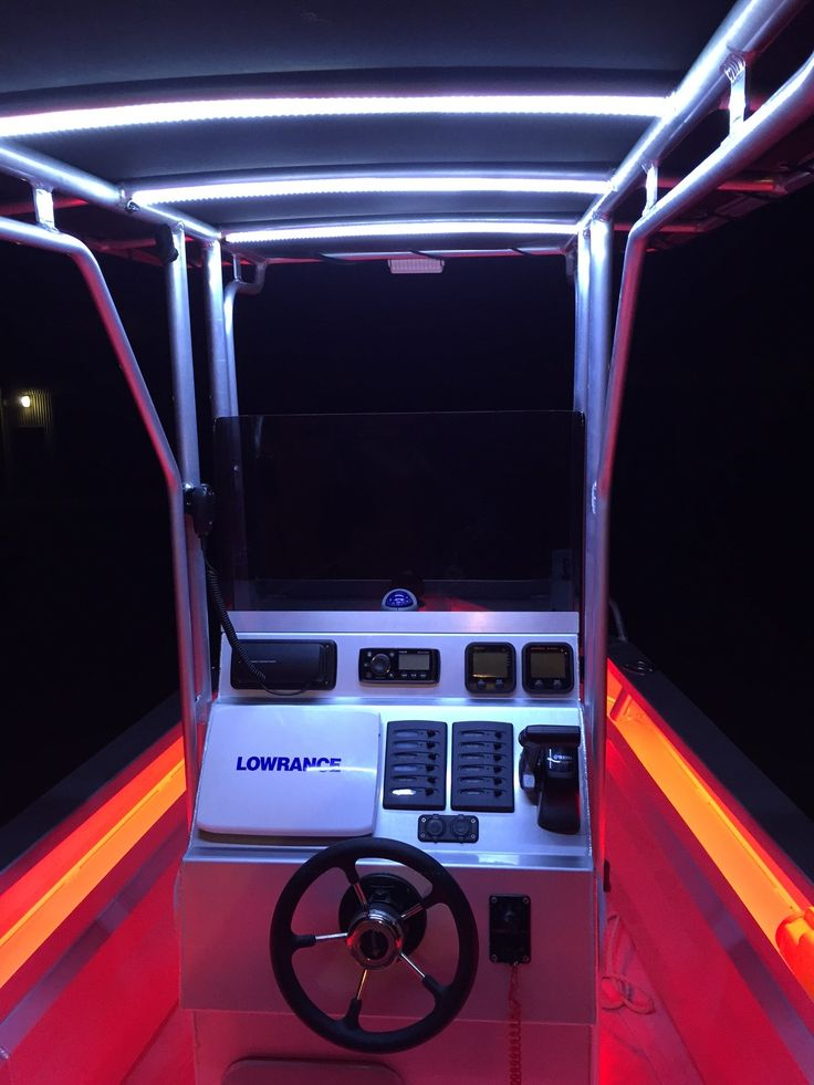 Waterproof LED strip light in a centre console boat #LEDlights                                                                                                                                                                                 More