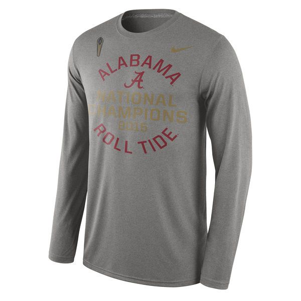 Alabama Crimson Tide Nike College Football Playoff 2015 National Champions Local Long Sleeve T-Shirt - Gray - $24.99