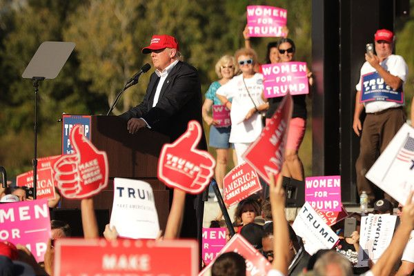 Republican presidential nominee Donald Trump holds a campaign rally the Orlando Amphitheater located at Central Florida Fairgrounds November 2, 2016 in Orlando, Florida. With less than a week before Election Day in the United States, Trump and his opponent, Democratic presidential nominee Hillary Clinton, are campaigning in key battleground states that each must win to take the White House.