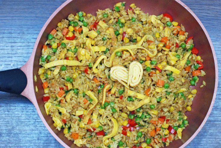 Fotorecept: Zeleninové rizoto s opečeným vajíčkom