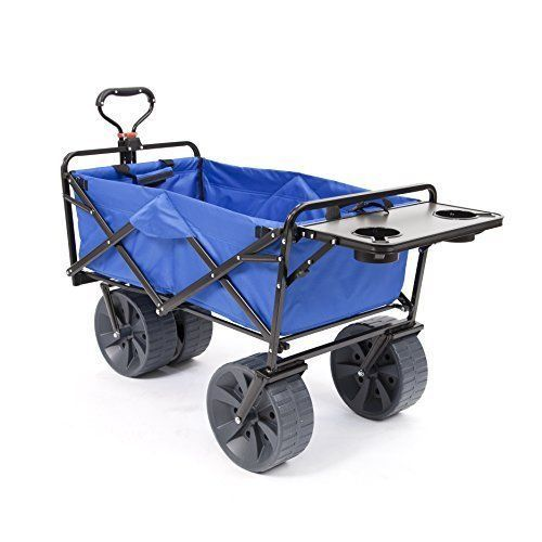 Sports heavy duty collapsible folding all terrain utility for Folding fishing cart
