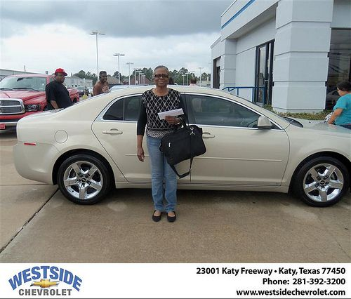 Westside Chevrolet would like to say Congratulations to Dorothy Newman on the 2009 Chevrolet Malibu