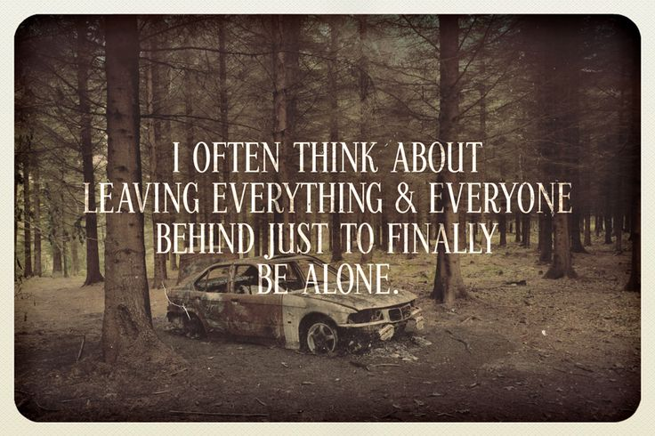 Want To Be Alone Quotes. QuotesGram
