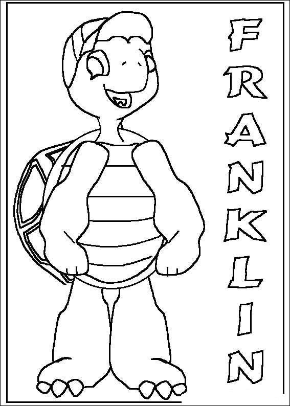 Franklin the Turtle Kids Coloring