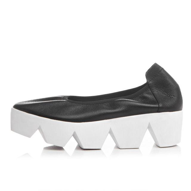 Женщины натуральная кожа платформа квартиры Женщин Ижфкн Повседневная Обувь Женщина Creepers Квартиры С Передач Подошве Zapatos Mujer 34-40 DZ01C