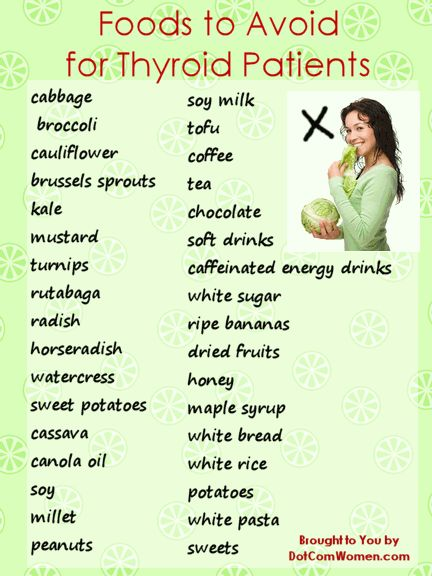 List of Foods to Avoid for Thyroid Patients | Women's ...
