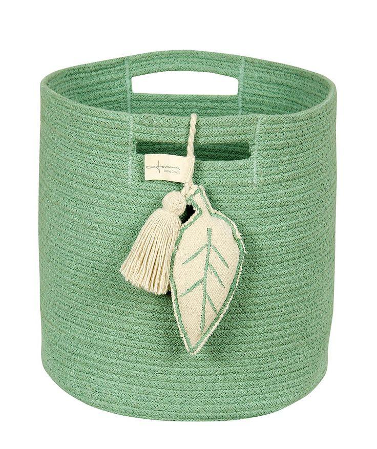 NEW Basket Leaf Green #washablerugs #lorenacanals #basket #leaf #accesories
