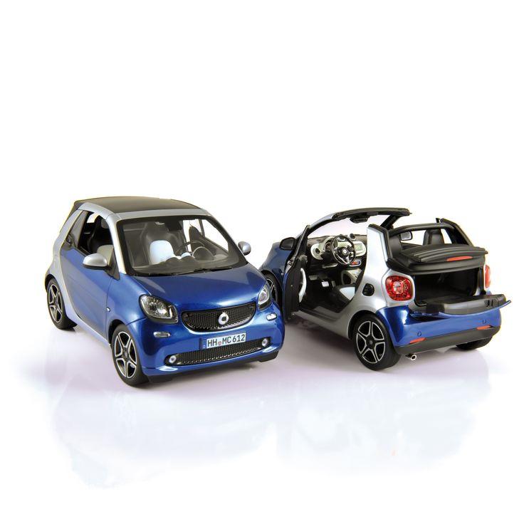 1:18 NOREV Collectors 183438 smart fortwo cabrio 2015 Blue & Silver ✔ production samples / exemplaires de production