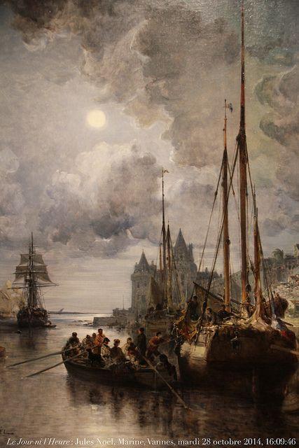 Jules Noël, 1815-1881, Marine, 1877, musée de La Cohue, Vannes, Morbihan, Bretagne.