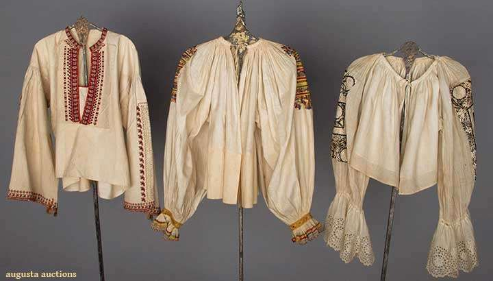 Two Regional Blouses, Slovakia, 1850-1899, Augusta Auctions, April 9, 2014 - NYC