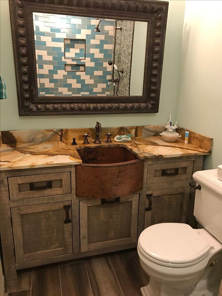 Top 25 ideas about rustic bathroom vanities on pinterest - Rustic vanity cabinets for bathrooms ...