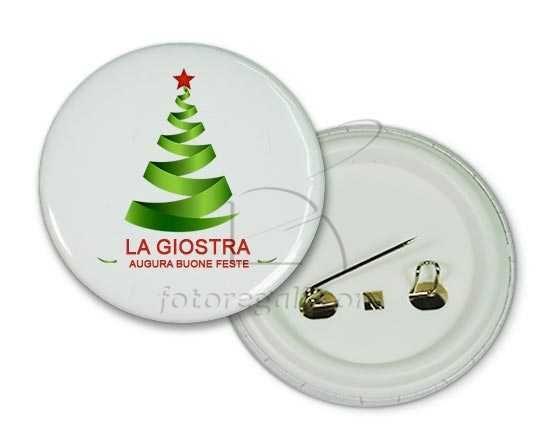 Spilla rotonda Alberello natalizio