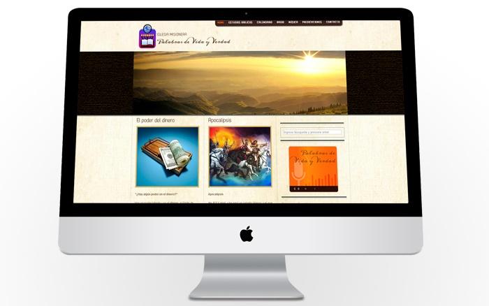 Sitio web religioso.