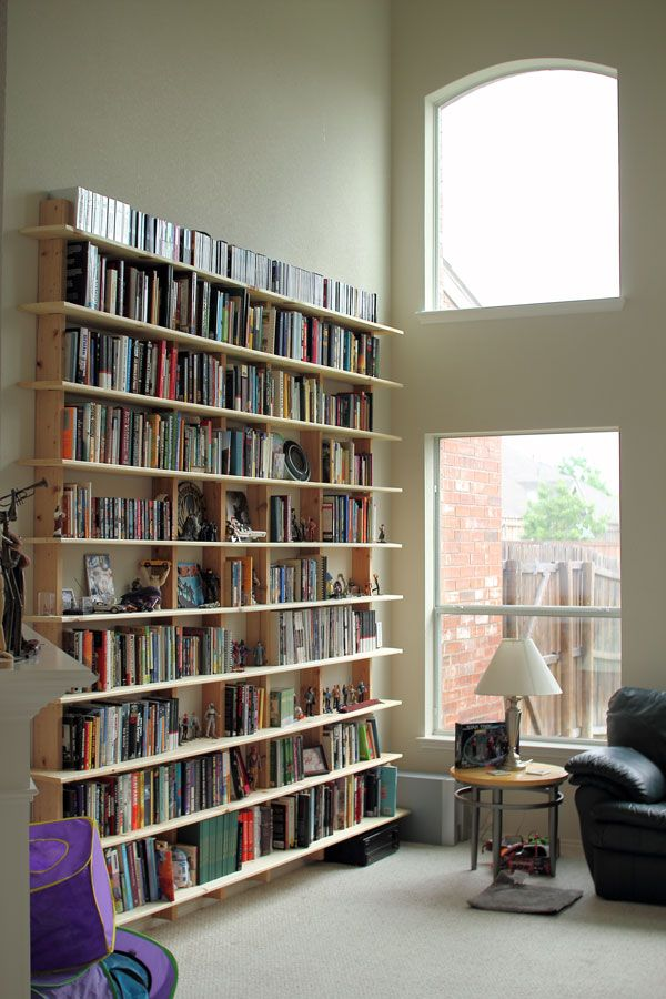 Really Simple Bookshelf Of Any Size Diy Wall