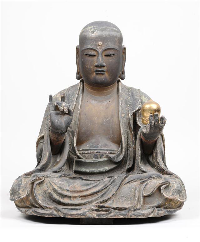 Wooden Bosatsu statue, property of Mitsui temple, Japan