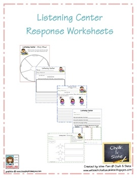 This is a set of five different worksheets that can be used with any fiction book at a listening center.