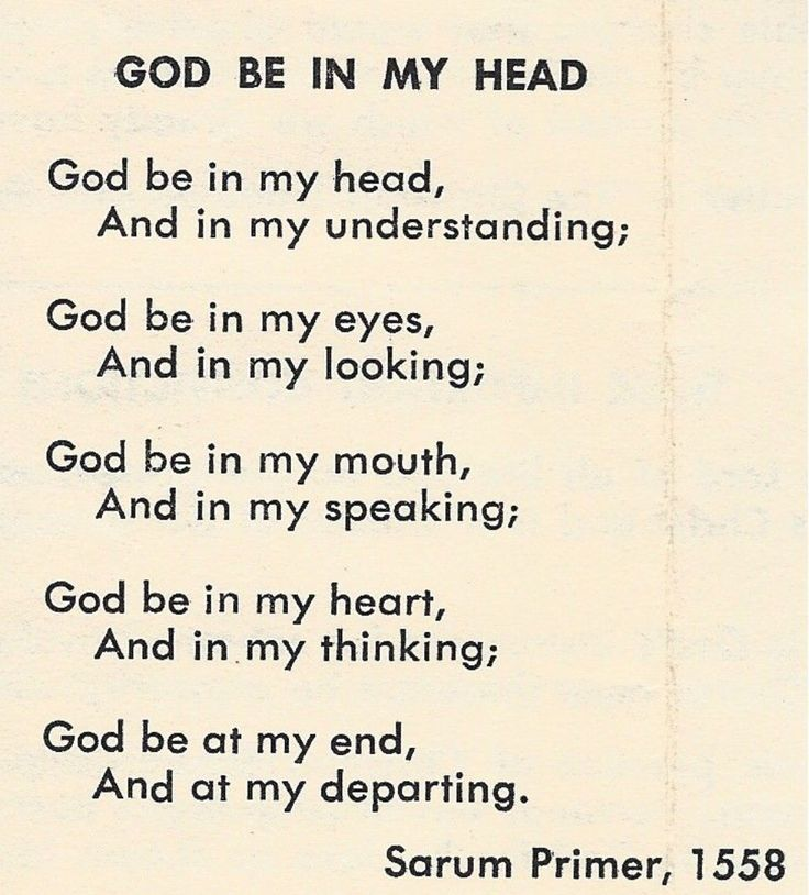 Prayer for God be in my Head - Amen. Bible Scripture ✞ - Christian Quote thought