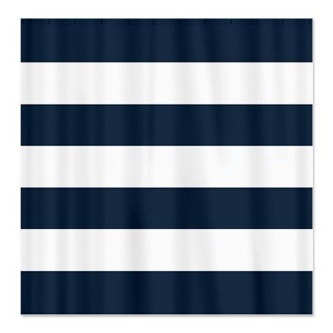 dark blue shower curtain. Large Striped Custom Shower Curtain Navy Blue and White Stripes OR Choose  Colors Standard Best 25 blue shower curtain ideas on Pinterest
