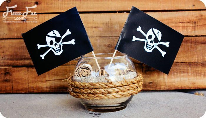 Pirate Party Centerpiece Printable - If you need table decoration ideas for a pirate birthday party theme, try this Pirate Party Centerpiece Printable that is part of fun DIY table centerpieces you will love. Homemade table decorations are a great way to add some personality and your own unique mark on the celebration. This printable adds the perfect finishing touch to these centerpieces. Guests will be amazed at the time and creativity you put into the details of the party.