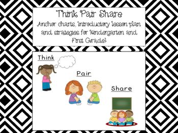 How to teach your students THINK PAIR SHARE, in this purchase you will receieve:-7 anchor charts in color with picture support-A lesson plan for the introduction of Think-Pair-Share-Tips/Strategies of how to use it in your classroomALIGNED WITH CCSS for Kindergarten and First Grade!