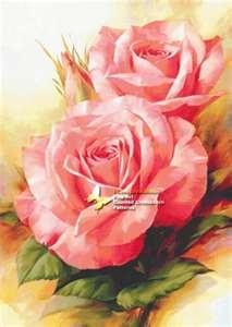 Pink Roses - Igor Levashov - I Love Cross Stitch - Charts & Leaflet ...