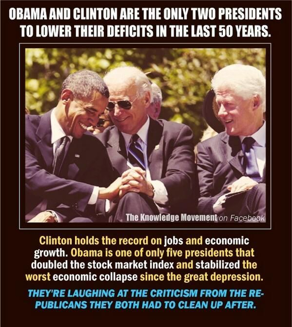 "Presidents Obama & Clinton - True Democrats for the ""people"". NOTE.  Please again can you give me how you came to that conclusion."
