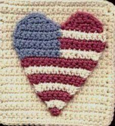 Make this I Love A Parade granny square and show off your love for America. This free #crochet afghan square pattern is perfect for Memorial Day, 4th of July, and other patriotic holidays.