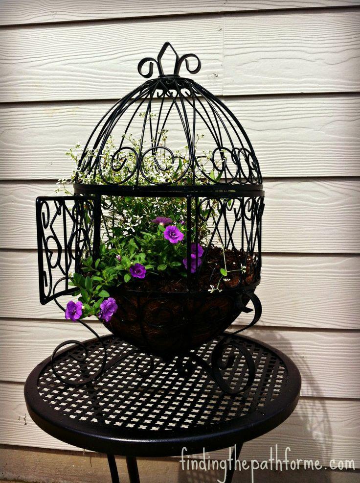 17 best images about birdcage planter on pinterest. Black Bedroom Furniture Sets. Home Design Ideas