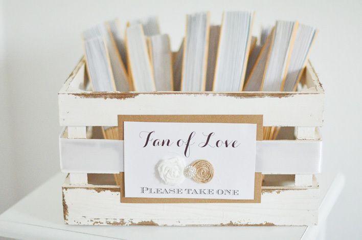 """Hochzeitsdeko - Holzkorb für Fächer shabby """"Fan of Love""""  - ein Designerstück von little-pink-butterfly bei DaWanda"""