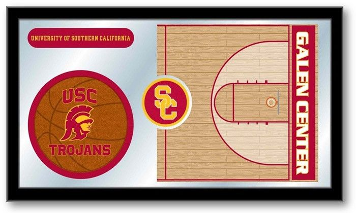 [[start tab]] Description The perfect way to show your school pride. Our University of Southern California Trojans Basketball Team Sports Mirror displays the school's symbols with a style that fits an
