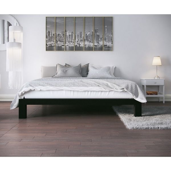 Simple and stunning, the Vesta metal platform bed frame is a brilliant addition to any bedroom. Built with durability in mind, this frame features a sturdy full steel design finished in a black coatin