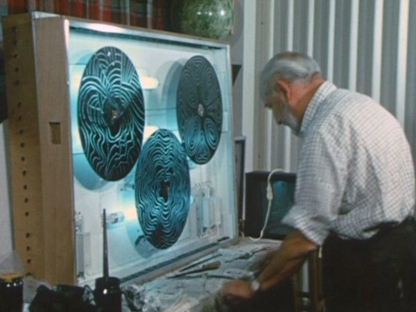 Lumidyne- Peinture cinétique, Frank-Joseph Malina, 1966