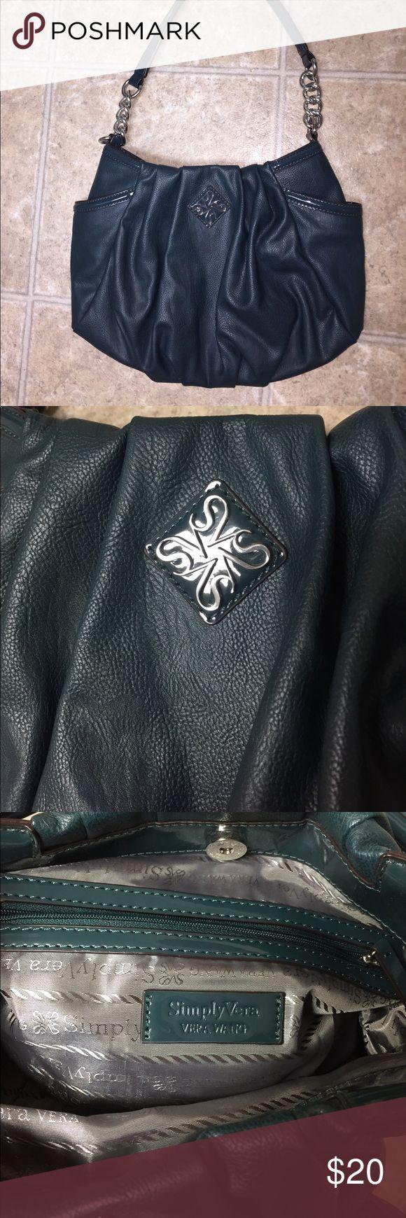 Simply Vera Wang hand bag It's a dark gen almost black color Simply Vera Vera Wang Bags Shoulder Bags