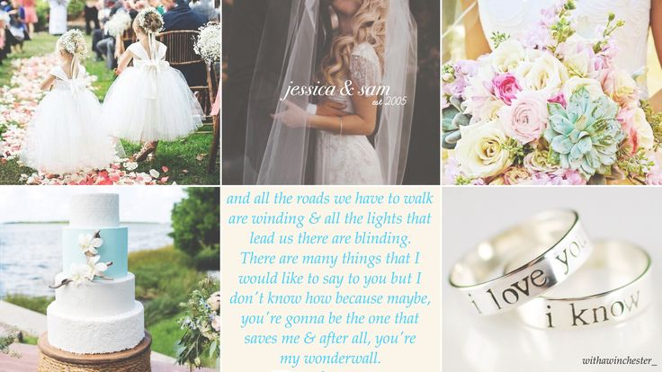 Sam Winchester & Jessica Moore wedding aesthetic