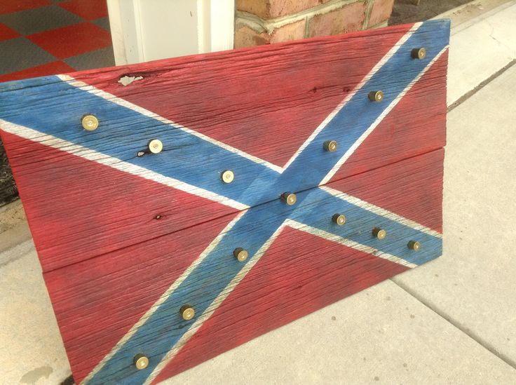 Barn Wood Confederate Battle Flag The Stars Are Made From