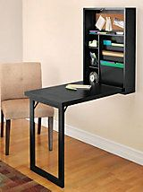 Fold-Out Convertible Desk |  I Totally want to make something like this for a sewing table!