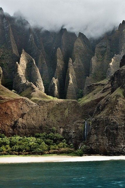 >Adventure, Kalulau Trail, Nature, Beautiful, Napali Coast, Kauai Hawaii, Travel, Places, Hawaiian Islands