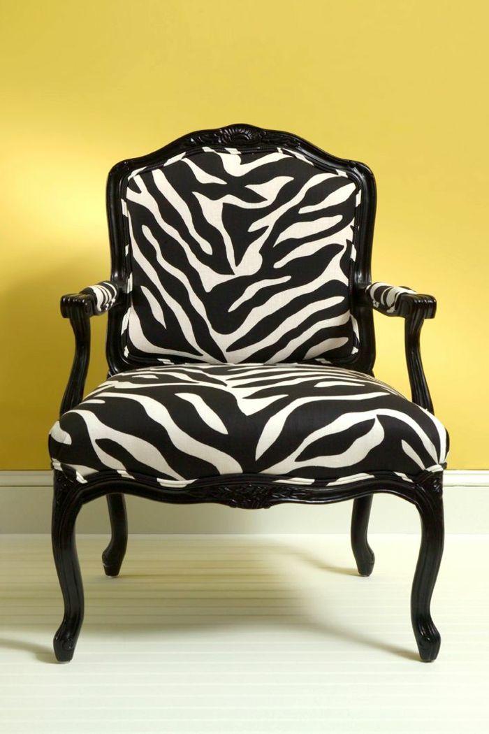 superbe fauteuil zebre pas cher
