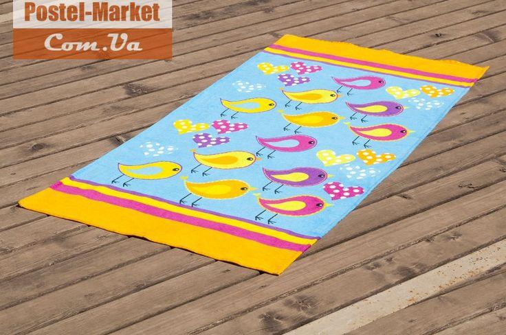 Полотенце пляжное BIRDS оранжевое LOTUS. Купить в Украине (Постель Маркет, Киев)
