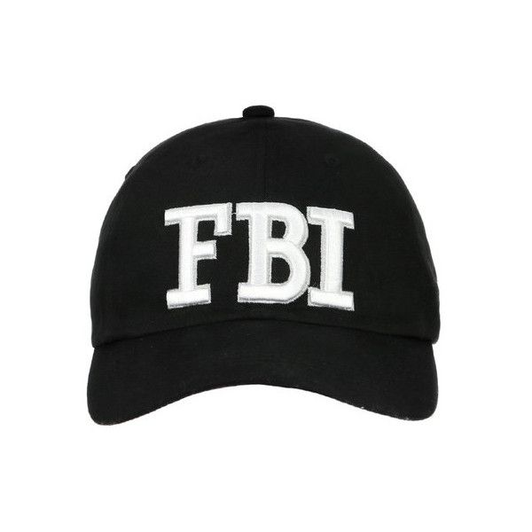 FBI HAT ($16) ❤ liked on Polyvore featuring accessories, hats, caps hats, baseball cap, baseball cap hats and baseball hats