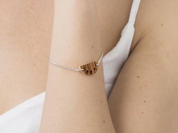 Half circle charm bracelet semi circle bracelet dainty chain