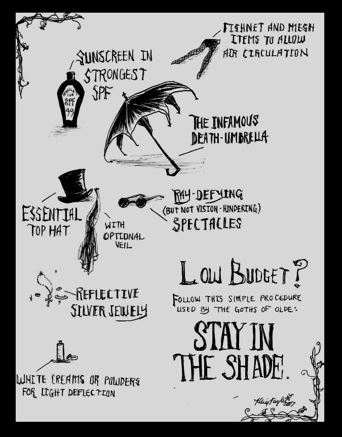 The Goth Summer Survival Guide by ~DecadentDementia on deviantART
