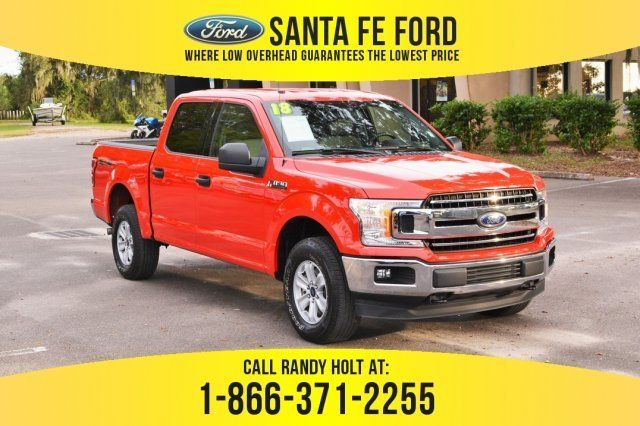 2018 Red Ford F 150 Xlt Truck 4 Door Automatic Ford F150 Used Ford F150 Ford F150 Xlt
