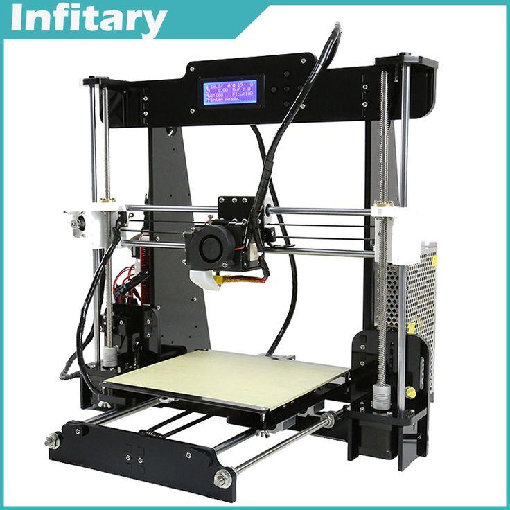 Encontrar Más 3D Printers Información acerca de Tamaño grande 220*220*240mm de Precisión Reprap Prusa i3 Filamento impressora 3d DIY kit con 25 M 8 GB tarjeta SD, alta calidad eps máquina, China impresora pluma Proveedores, barato máquina impresora de uñas de Huibao CO,.LTD Store en Aliexpress.com