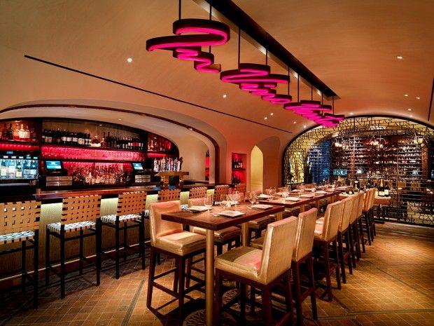 Classcic Elegant Restaurant Interior Design Of La Cave Las Vegas Chairs
